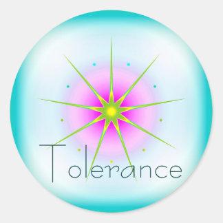 Tolerance (Virtue sticker) Classic Round Sticker