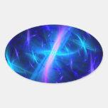Tolerancia celestial calcomanías de ovales personalizadas