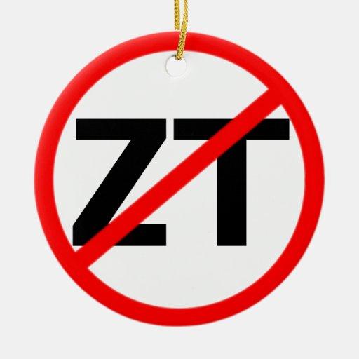 Tolerancia cero del final ornamento para arbol de navidad