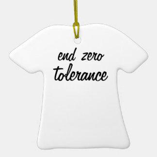 Tolerancia cero del final ornamente de reyes