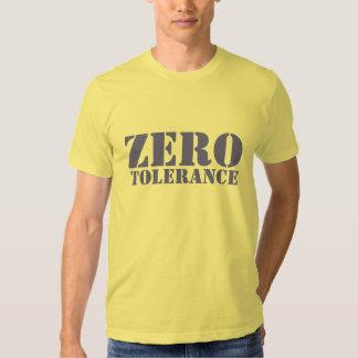 Tolerancia cero playeras
