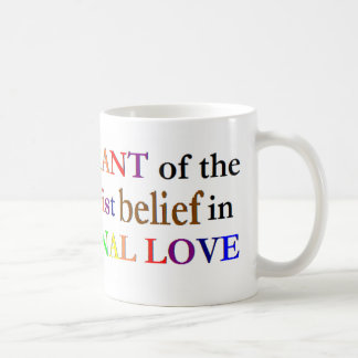 Tolerancia de fundamentalistas taza de café