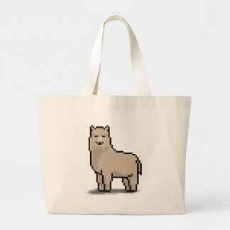 Tolerancia de la alpaca bolsa tela grande