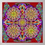 Tolerancia de la PÚRPURA SANTA: Mandala del giraso Poster