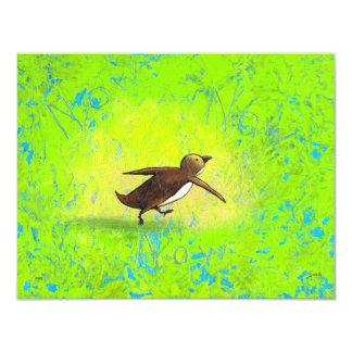 Tolerancia de precipitación apresurada arte del invitación 10,8 x 13,9 cm