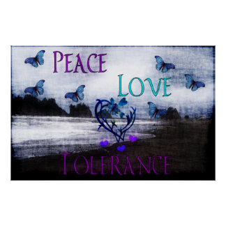 Tolerancia del amor de la paz poster
