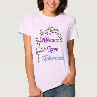 Tolerancia del amor de la paz polera