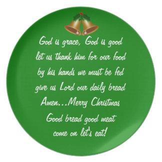 Tolerancia del navidad platos