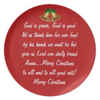 Tolerancia del navidad plato