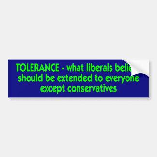 tolerancia pegatina para auto