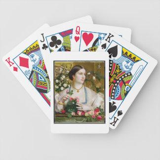 Tolerancia subió, 1866 (aceite en el panel) baraja cartas de poker
