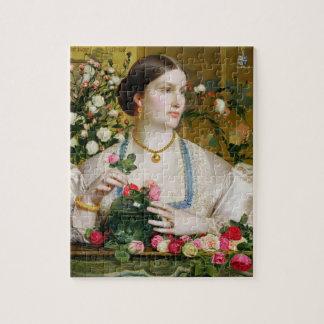 Tolerancia subió, 1866 (aceite en el panel) rompecabezas con fotos