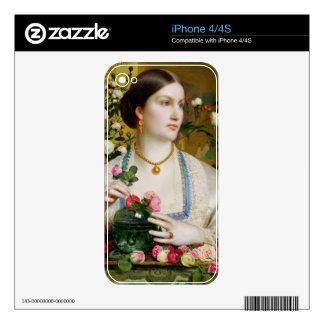Tolerancia subió, 1866 (aceite en el panel) iPhone 4 skins