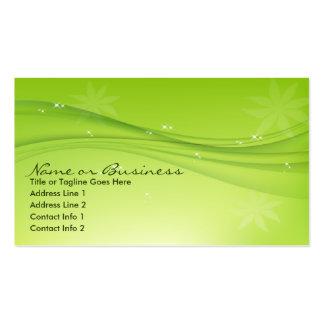 tolerancia verde tarjetas de visita