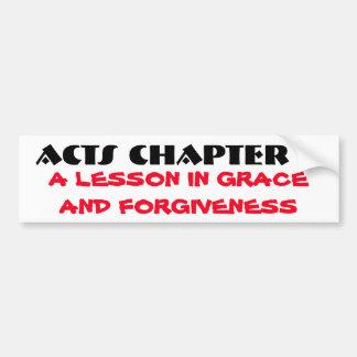 Tolerancia y perdón de los actos 7 pegatina para auto