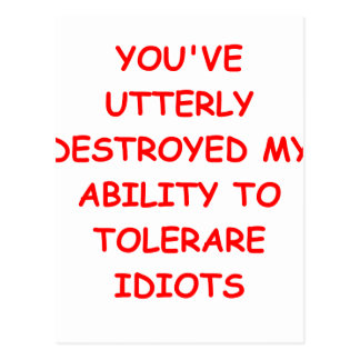 tolerate postcard