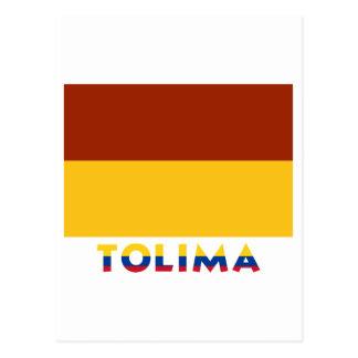 Tolima Flag with Name Postcard