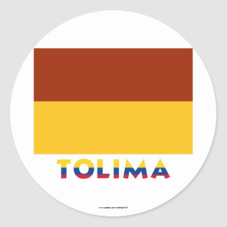Tolima Flag with Name Stickers