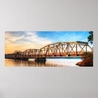 Toll Bridge Sunrise Panorama print