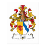 Toll Family Crest Postcard