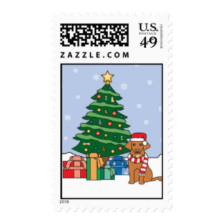 Toller and Christmas Tree Stamp