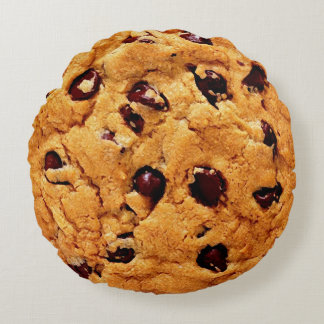 Tollhouse Cookie Round Pillow