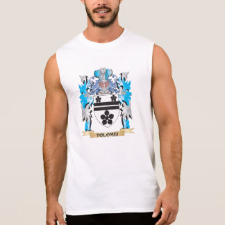 Tolomei Coat of Arms - Family Crest Sleeveless Shirt