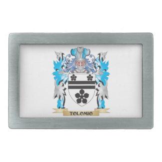 Tolomio Coat of Arms - Family Crest Rectangular Belt Buckle