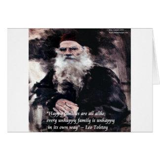 Tolstoy Anna Karenina Happy Families Alike Quote Card