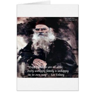 Tolstoy Anna Karenina Happy Families Alike Quote Greeting Card
