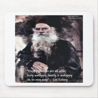 Tolstoy Anna Karenina Happy Families Alike Quote Mousepad