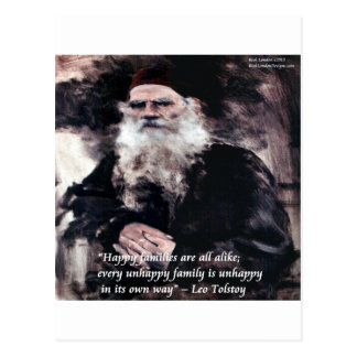 Tolstoy Anna Karenina Happy Families Alike Quote Postcards