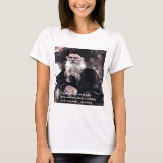 Tolstoy Anna Karenina Happy Families Alike Quote T-Shirt