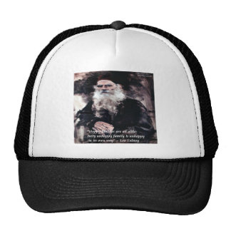 Tolstoy Anna Karenina Happy Families Alike Quote Trucker Hat