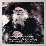 Tolstoy & Anna Karenina Opening Line Poster