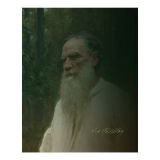 Tolstoy by Repin Poster