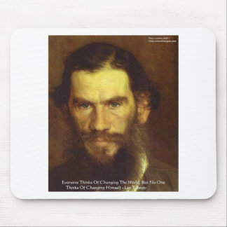 """Tolstoy """"Change Yourself"""" Wisdom Quote Gifts & Tee Mouse Pad"""
