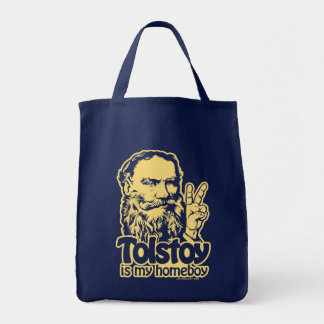 Tolstoy Is My Homeboy Tote Grocery Tote Bag