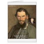 """Tolstoy """"Nietzsche ="""" camisetas estúpidas etc de Tarjeta De Felicitación"""