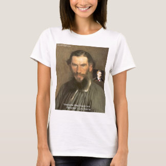 """Tolstoy """"Nietzsche = Stupid"""" Quote Gifts Tees Etc"""