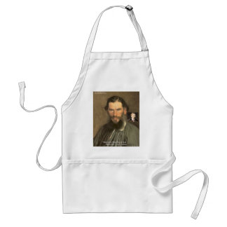 "Tolstoy ""Nietzsche = Stupid"" Quote Gifts Tees Etc Adult Apron"