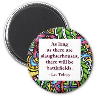 Tolstoy Quote 2 Inch Round Magnet