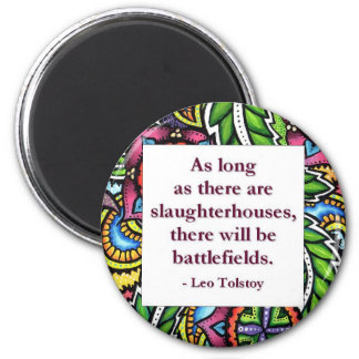Tolstoy Quote 2 Inch Round Magnet