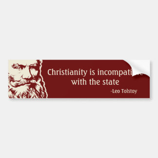 Tolstoy Quote Bumper Sticker