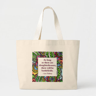 Tolstoy Quote Canvas Bags