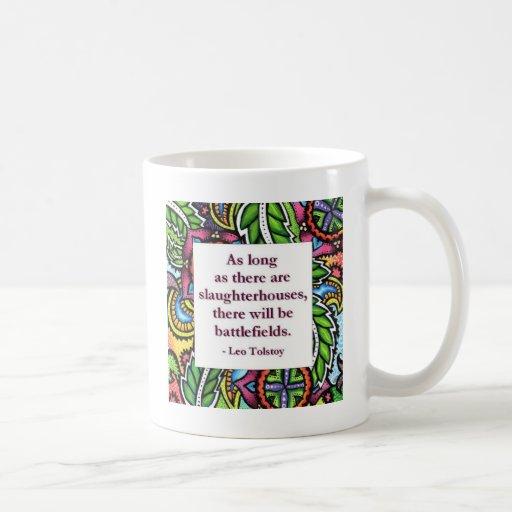 Tolstoy Quote Classic White Coffee Mug