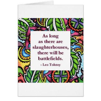 Tolstoy Quote Greeting Card