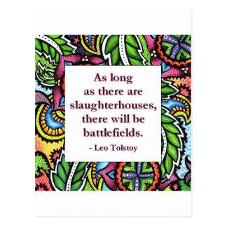Tolstoy Quote Postcard