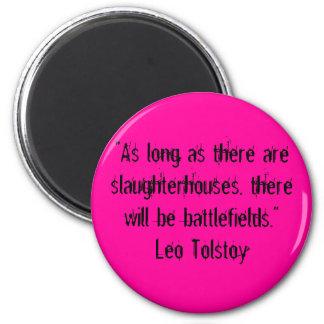 Tolstoy Vegetarian Quote 2 Inch Round Magnet