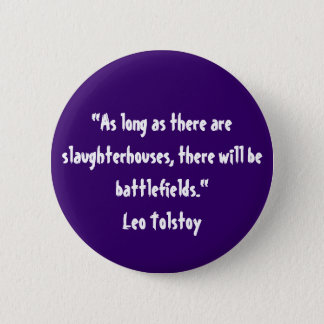 Tolstoy Vegetarian Quote Button